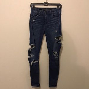 High rise distressed American Eagle jeggings